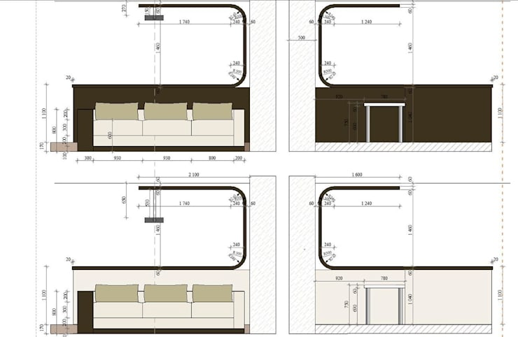 Квартира с мужским характером: Гостиная в . Автор – Дизайн-студия Идея