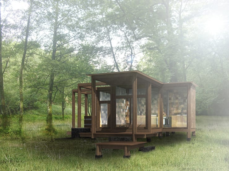Lesnianski Wooden Pavilion:  Houses by SHSH Architecture + Scenography
