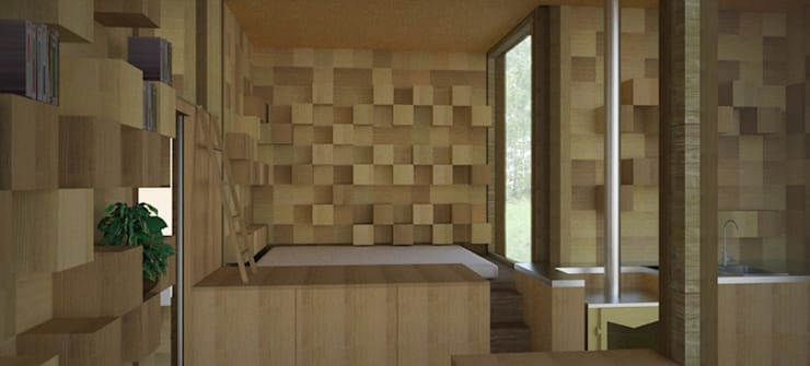 Lesnianski Sleeping area:  Bedroom by SHSH Architecture + Scenography