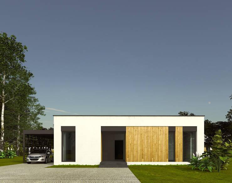 widok od frontu: styl , w kategorii  zaprojektowany przez ASYMETRIK architektura,