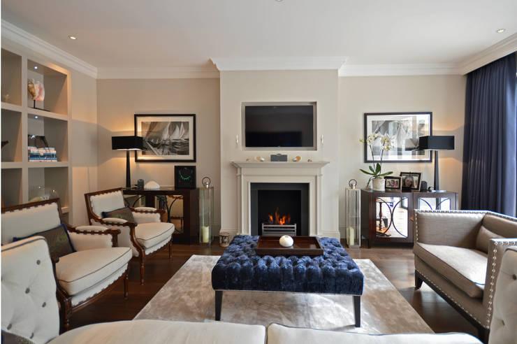 The living room :  Living room by Zodiac Design