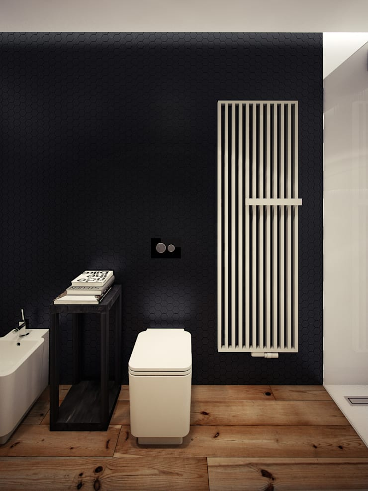 ofdesign Oskar Firek Loft Apartment łazienka: styl , w kategorii Łazienka zaprojektowany przez OFD architects,