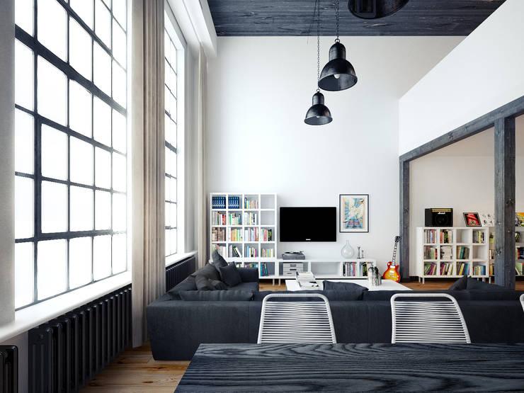 ofdesign Oskar Firek Loft Apartment salon: styl , w kategorii Salon zaprojektowany przez OFD architects,