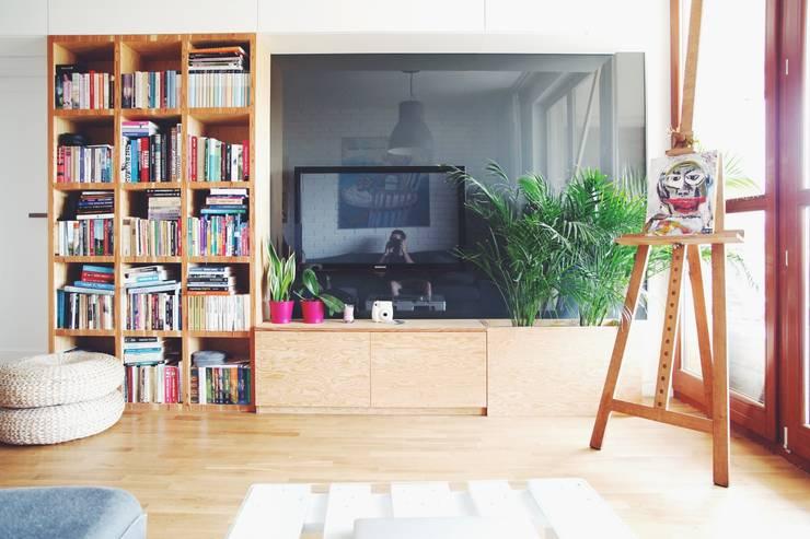 ofdesign Oskar Firek Plywood Warsaw salon: styl , w kategorii Salon zaprojektowany przez OFD architects