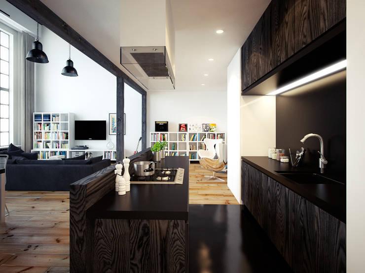 ofdesign Oskar Firek Loft Apartment kuchnia: styl , w kategorii Kuchnia zaprojektowany przez OFD architects,