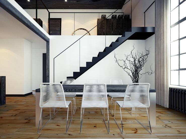 ofdesign Oskar Firek Loft Apartment jadalnia: styl , w kategorii Jadalnia zaprojektowany przez OFD architects,