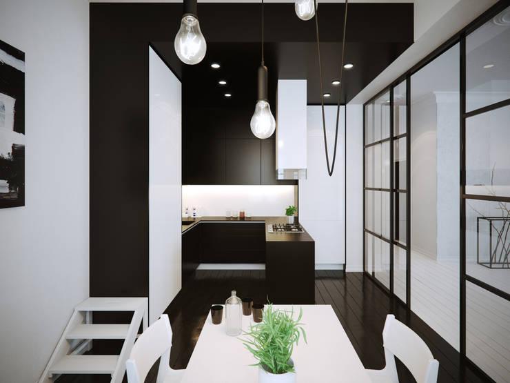 ofdesign Oskar Firek Mono Apartment kuchnia: styl , w kategorii Kuchnia zaprojektowany przez OFD architects