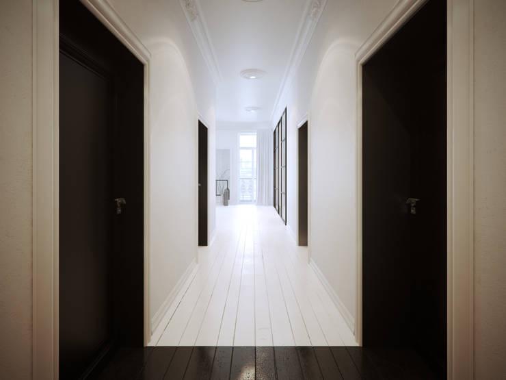 ofdesign Oskar Firek Mono Apartment hall: styl , w kategorii Korytarz, przedpokój zaprojektowany przez OFD architects