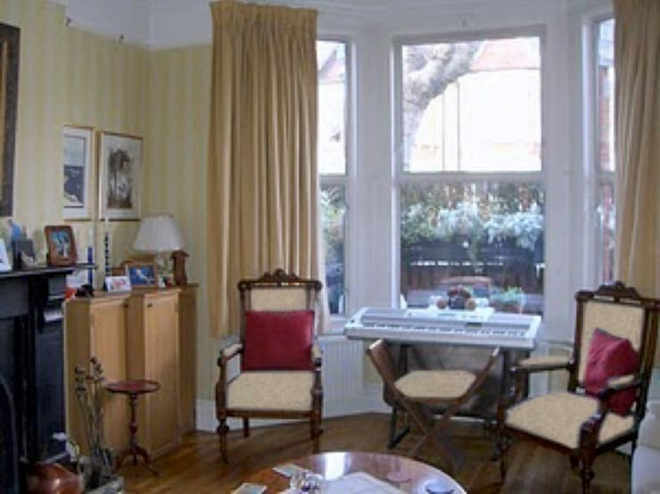 Living room - before:  Dining room by Cathy Phillips & Co