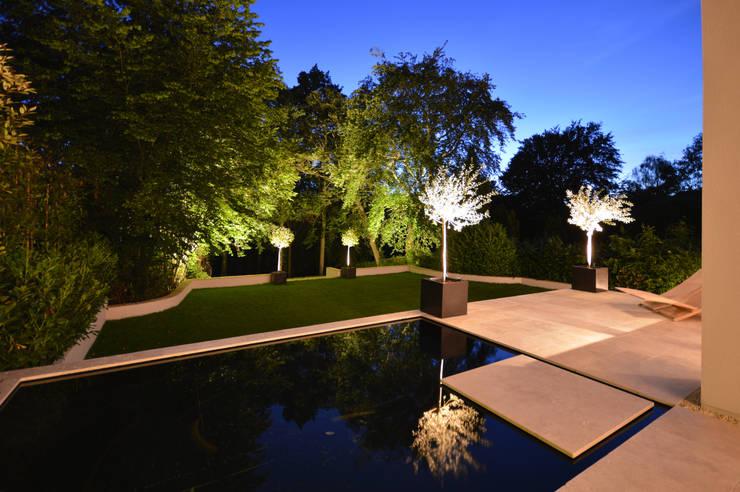 Heated splash pond :  Garden by Zodiac Design