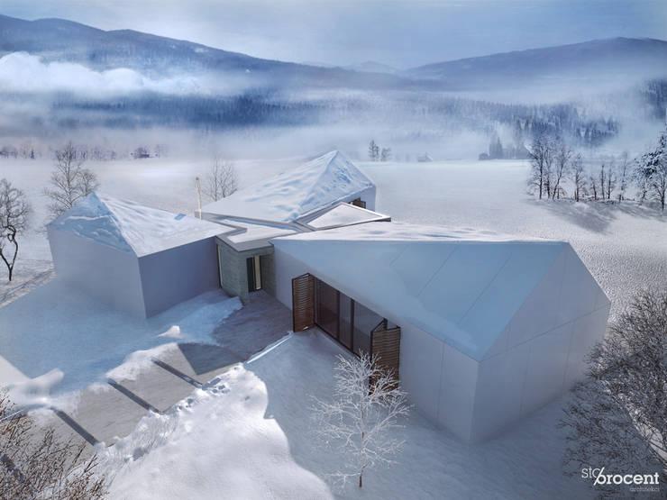 Dom G  z widokiem na 26 szczytów: styl nowoczesne, w kategorii Domy zaprojektowany przez STOPROCENT Architekci