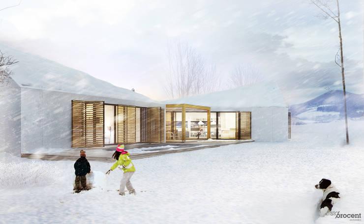 Dom G  z widokiem na 26 szczytów: styl , w kategorii Domy zaprojektowany przez STOPROCENT Architekci