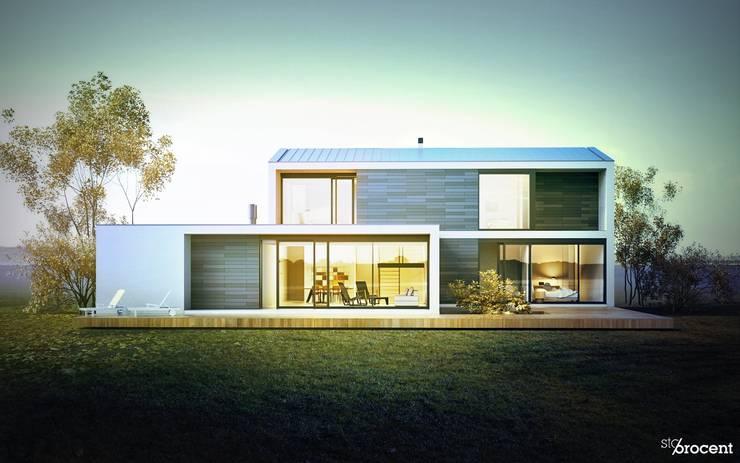 Dom (nie) typowy: styl , w kategorii Domy zaprojektowany przez STOPROCENT Architekci