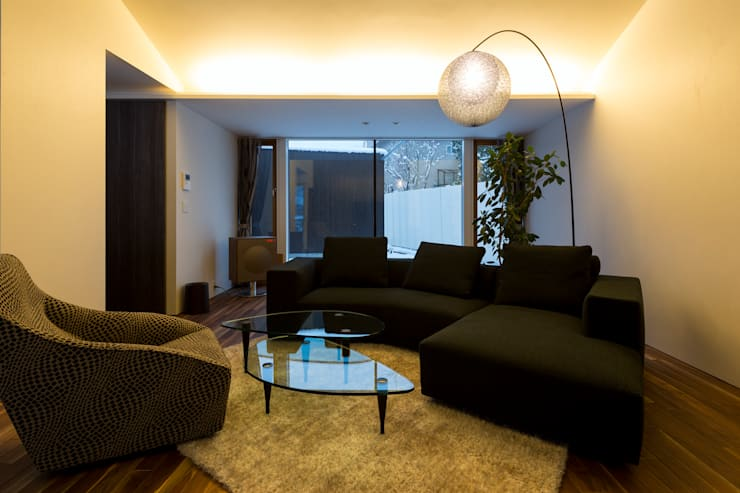 YMT residence 04: 浅香建築設計事務所 asaka architectural designが手掛けたリビングです。