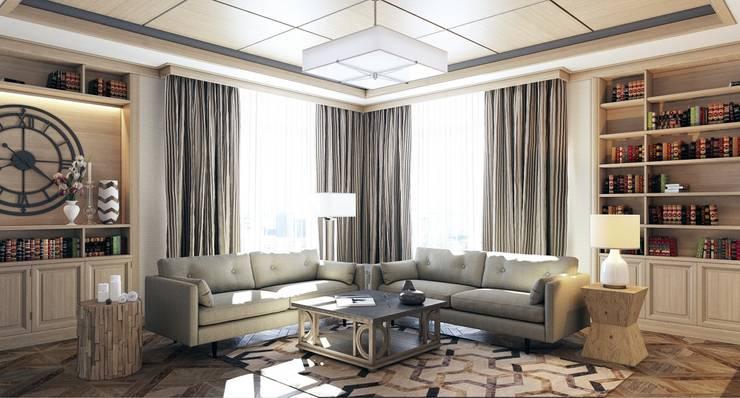 Гостиная: Гостиная в . Автор – Студия Искандарова