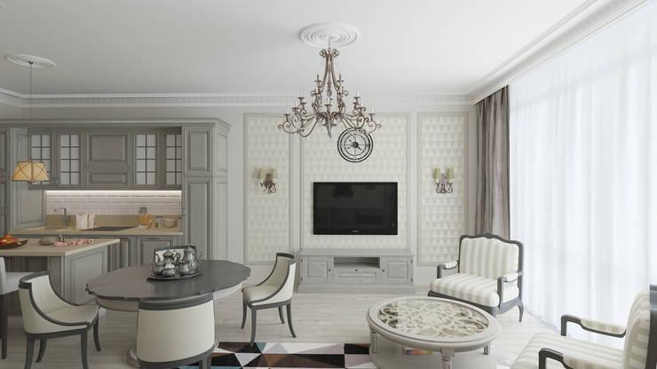 Кухня-столовая: Столовые комнаты в . Автор – Студия Искандарова