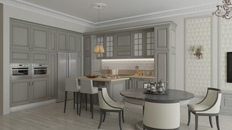 Кухня-столовая: Кухни в . Автор – Студия Искандарова