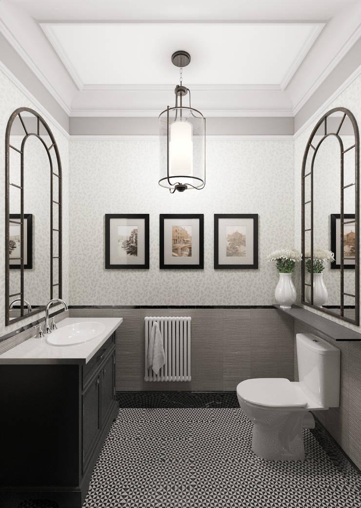 Санузел: Ванные комнаты в . Автор – Студия Искандарова
