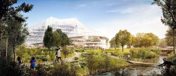 Google's new Californian HQ - Mountain View - Heatherwick + Bjarke Ingels Group:   by Heatherwick