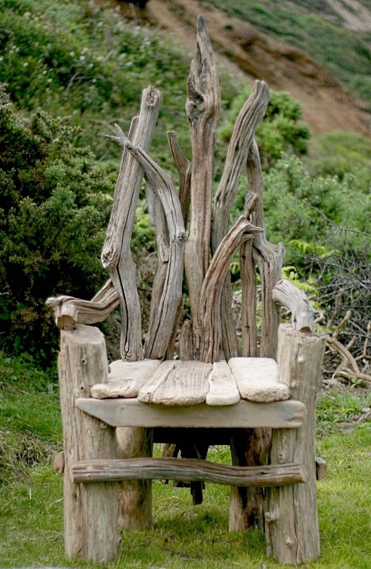 Driftwood Chair:  Garden  by Julia's Driftwood