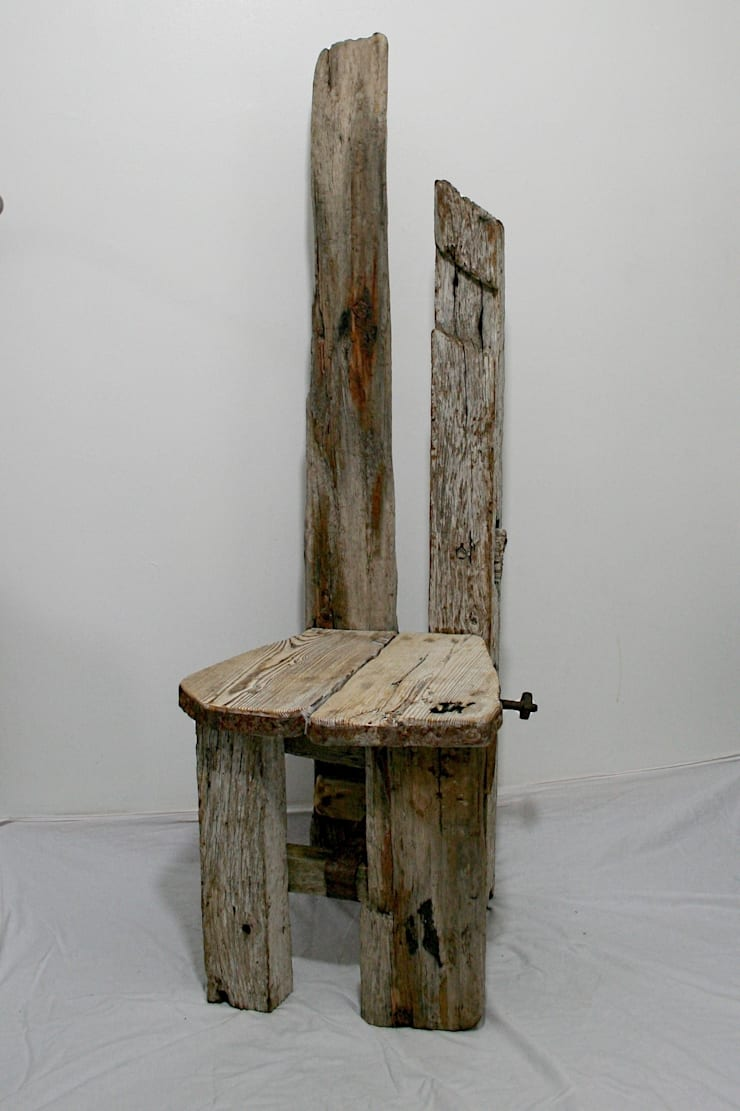 Driftwood Chair:  Interior landscaping by Julia's Driftwood