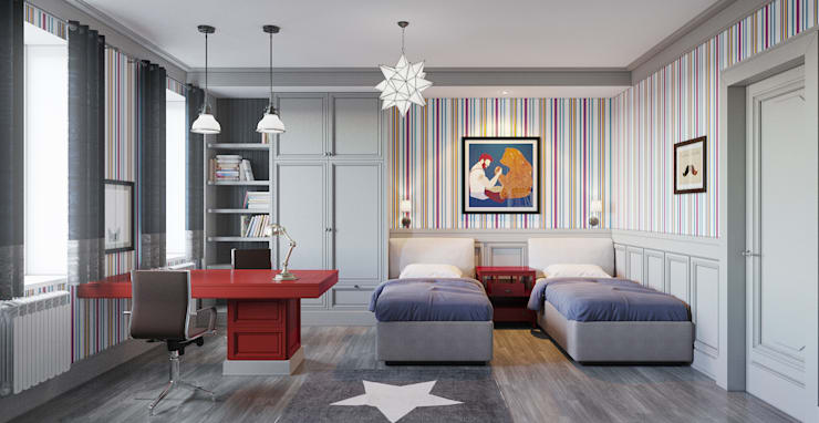 Детская комната: Детские комнаты в . Автор – Студия Искандарова