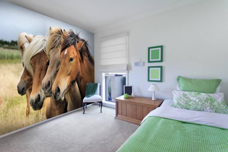 Icelandic Horses Murs & Sols ruraux par Wallsauce.com Rural
