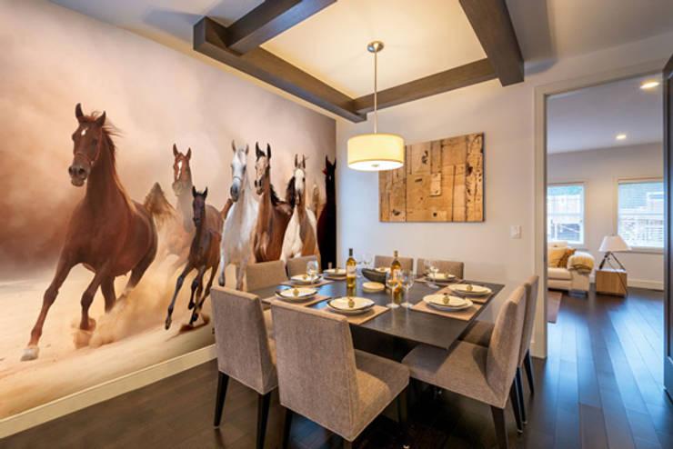 Herd of Horses Panoramic Murs & Sols originaux par Wallsauce.com Éclectique