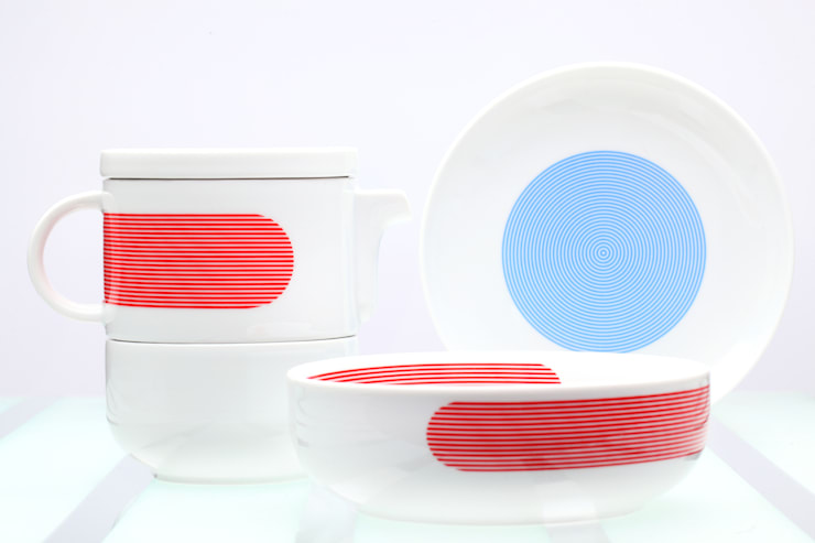 NEW ATELIER _ BLUE, RED, GREEN Ćmielów Design Studio by Modus Design: styl , w kategorii Gospodarstwo domowe zaprojektowany przez Marek Cecuła Modus Design,