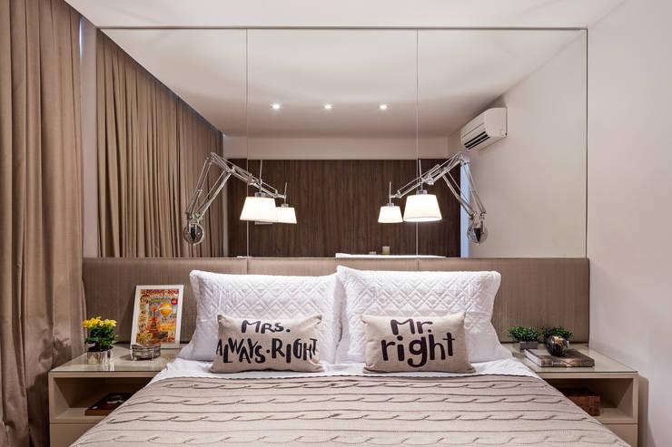 غرفة نوم تنفيذ BEP Arquitetos Associados