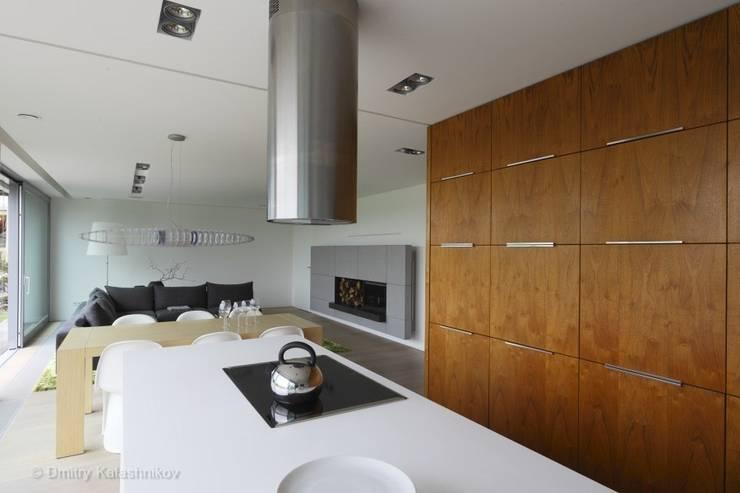 DOM JEDNORODZINNY LUS_1: styl , w kategorii Kuchnia zaprojektowany przez PL.architekci,