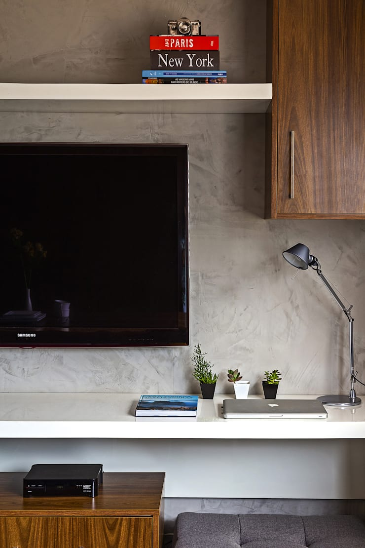 Apartamento LP: Salas multimídia  por BEP Arquitetos Associados