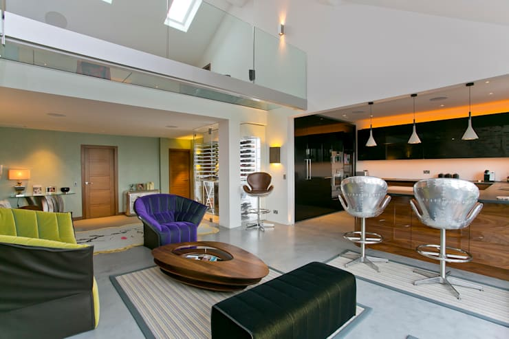 Living room by Temza design and build, Modern