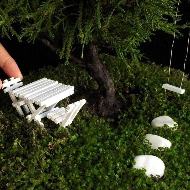 PASPASIN BAHÇELERİ – MİNYATÜR BAHÇE (L1):  tarz Balkon, Veranda & Teras
