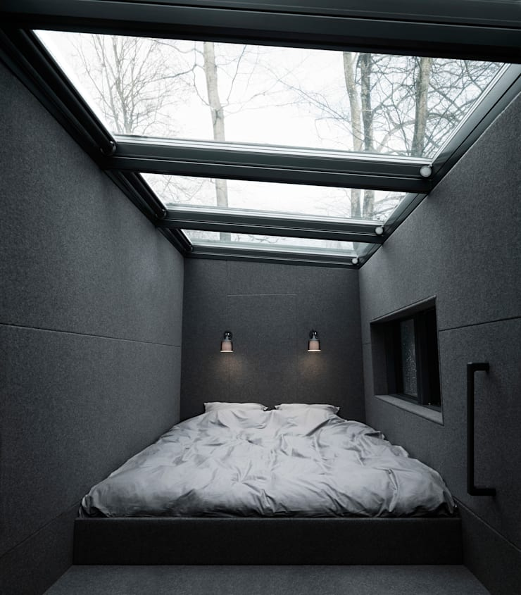 Vipp bed:  Bedroom by Vipp