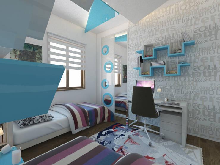 İNDEKSA Mimarlık İç Mimarlık İnşaat Taahüt Ltd.Şti. – Konut Projesi:  tarz Yatak Odası