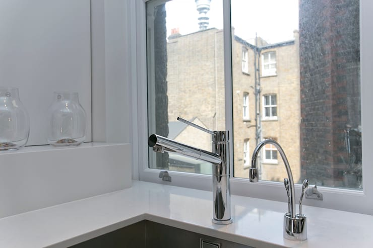 Kitchen tap:  Kitchen by Temza design and build