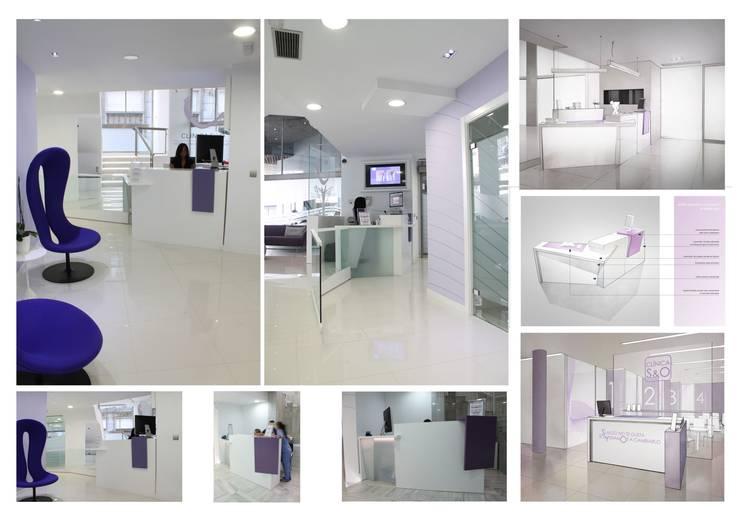 mostrador de recepción:  de estilo  de elementos interiorismo y diseño