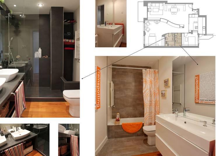 Baños de estilo  por elementos interiorismo y diseño