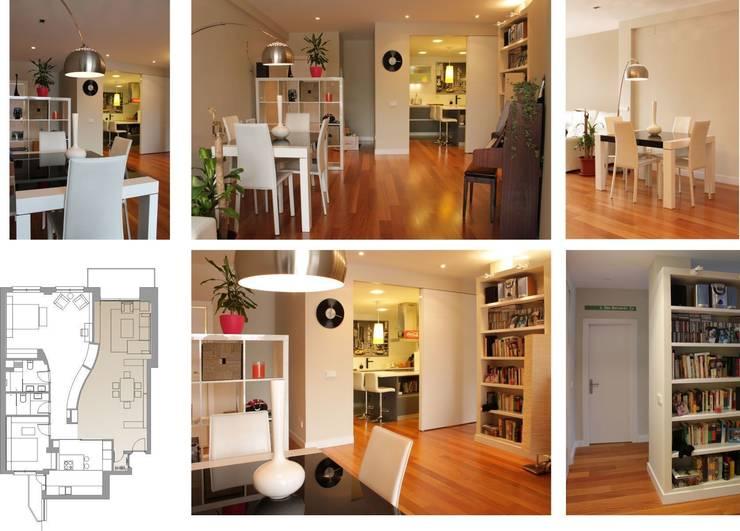 comedor y acceso a cocina: Comedores de estilo  de elementos interiorismo y diseño