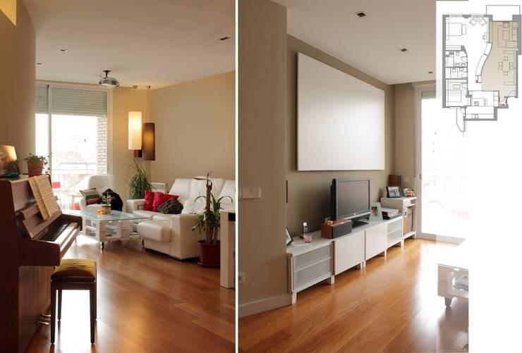 salón: Salones de estilo  de elementos interiorismo y diseño