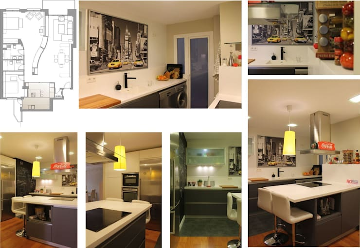 cocina: Cocinas de estilo  de elementos interiorismo y diseño