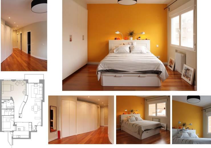 proyecto y obra de reforma en vivienda: Dormitorios de estilo  de elementos interiorismo y diseño