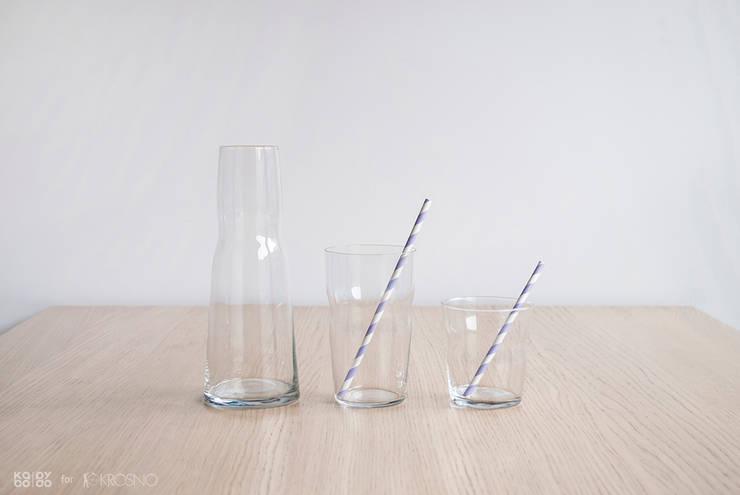 TALIA - karafka i szklanki: styl , w kategorii Jadalnia zaprojektowany przez KABO & PYDO design studio