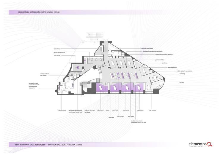 planta de estado refomado:  de estilo  de elementos interiorismo y diseño