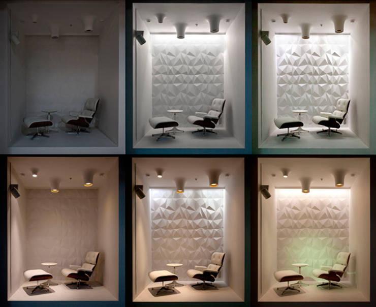 Сценарии освещения одной из витрин: Офисные помещения в . Автор – Megabudka
