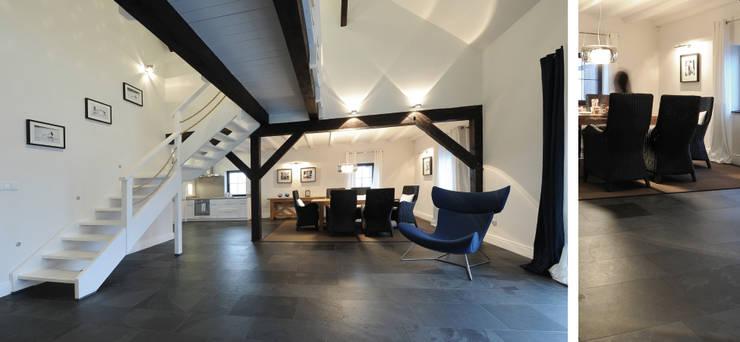 Salon w domu nad jeziorem w Miłomłynie - jadalnia: styl , w kategorii Jadalnia zaprojektowany przez Paszkiewicz Design