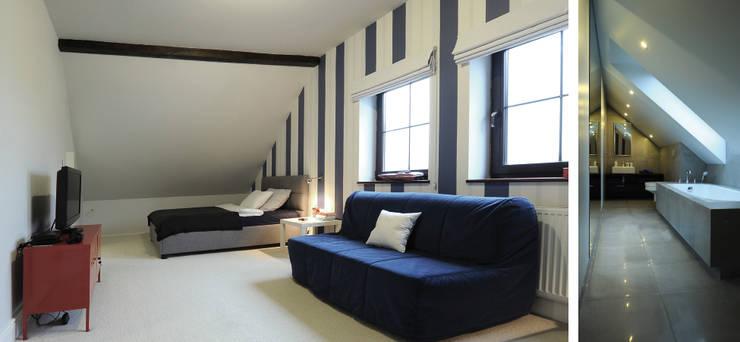Pokój chłopców w domu nad jeziorem w Miłomłynie: styl , w kategorii Pokój dziecięcy zaprojektowany przez Paszkiewicz Design