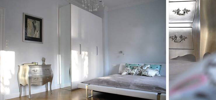 Apartament w Sopocie - sypialnia: styl , w kategorii Sypialnia zaprojektowany przez Paszkiewicz Design