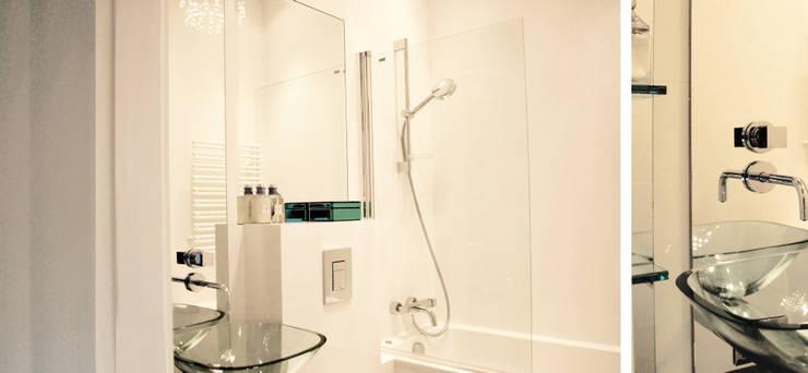 Apartament w Sopocie - łazienka: styl , w kategorii Łazienka zaprojektowany przez Paszkiewicz Design